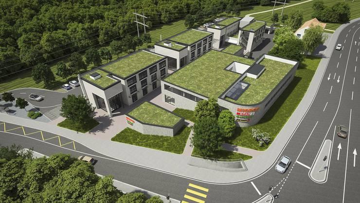 Im neuen Zentrum Waldegg, das im Herbst eröffnet werden soll, erhält die Post einen Platz in der Migros-Filiale. (Visualisierung)