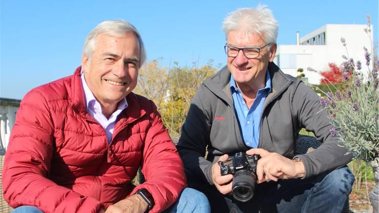 Marcel Lüthi (links) und Thuri Fischer sind bereit fürs Abenteuer Atacamawüste.