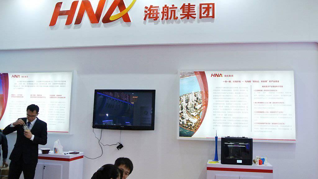 Bringt bei Gategroup wieder Luft unter die Flügel: Der neue chinesische Besitzer HNA, hier bei einer Messe in Peking.