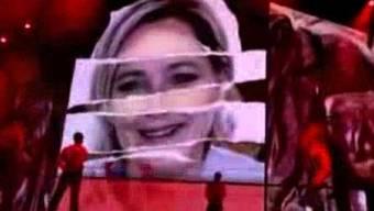 Madonna nimmt sich auf der Bühne Marine Le Pen vor