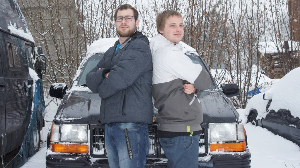 Benj Moser und Aaron Giger aus Wilen sind seit Jahren Freunde - und wollen jetzt gemeinsam nach Tschernobyl fahren.