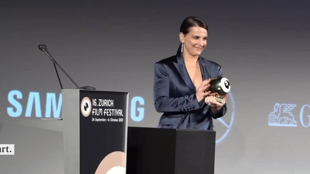 Juliette Binoche mit höchster Auszeichnung des ZFF geehrt