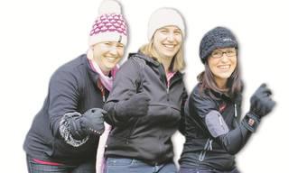 Sarah Arnold, Manuela Meier und Michèle Keller (von links) freuen sich auf ihr Abenteuer. Es fehlt Nadja Tanner.