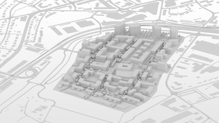 Modell des Projekts Olten SüdWest