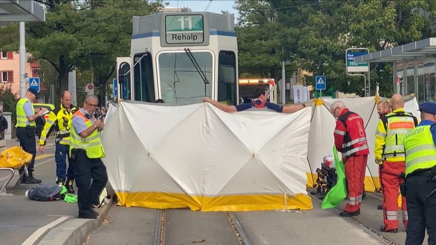 Zürich: Mann stirbt nach Kollision mit Tram im Kreis 6