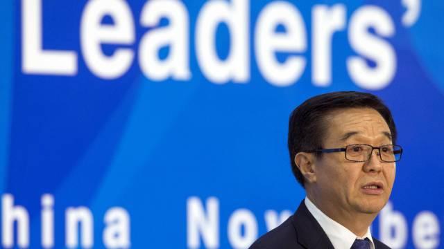 Chinas Handelsminister Gao Hucheng in Peking