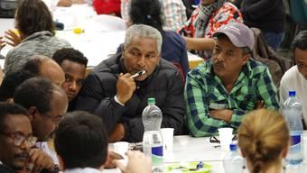 """Die Caritas Aargau organisierte im November einen Workshop für Flüchtlinge. Dort konntne sie sich über das Thema """"Integration"""" äussern."""