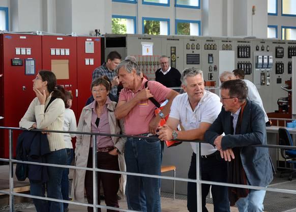 Besichtigung der neuen Maschinengruppe im Wasserkraftwerk Aue