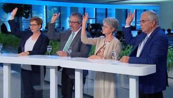 Ruth Müri, Beat Flach, Maya Bally und Roland Frauchiger: Hier finden Sie einen Zusammenschnitt der spannendsten Aussagen der Ständeratskandidaten der kleinen Parteien.