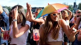 77000 Festivalgänger feierten vergangenes Wochenende auf dem Berner Hausberg. KEYSTONE