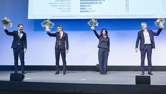 Die vier gewählten Regierungsräte Basel-Stadt.