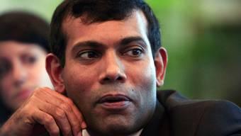 Die Demonstranten verlangen den Rücktritt von Präsident Mohamed Nasheed (Archiv)