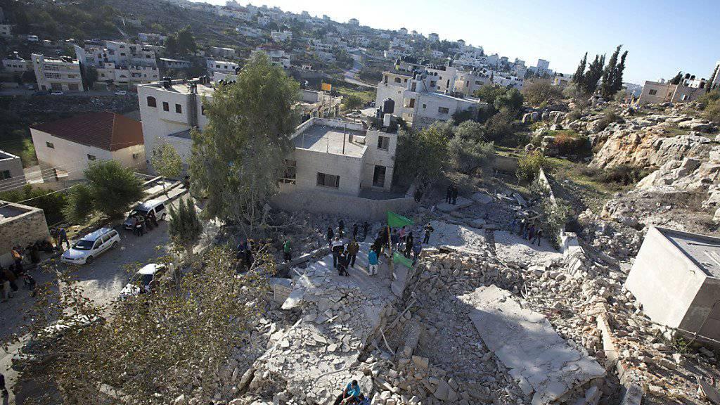 Hier stand einst ein Haus: Bei Zusammstössen anlässlich einer Hauszerstörung bei Ramallah hat die israelische mindestens zwei Palästinenser getötet. (Archivbild)