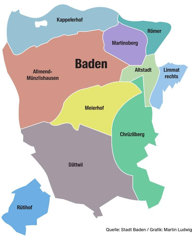 Quartiere Stadt Baden