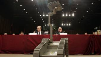 Modell eines unbemannten US-Kampfroboters. (Archivbild)