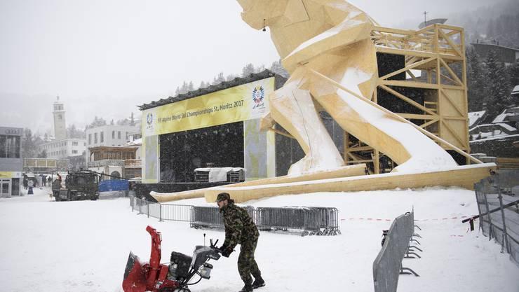 Die Vorbereitungen zur Ski-WM sind im vollen Gange.