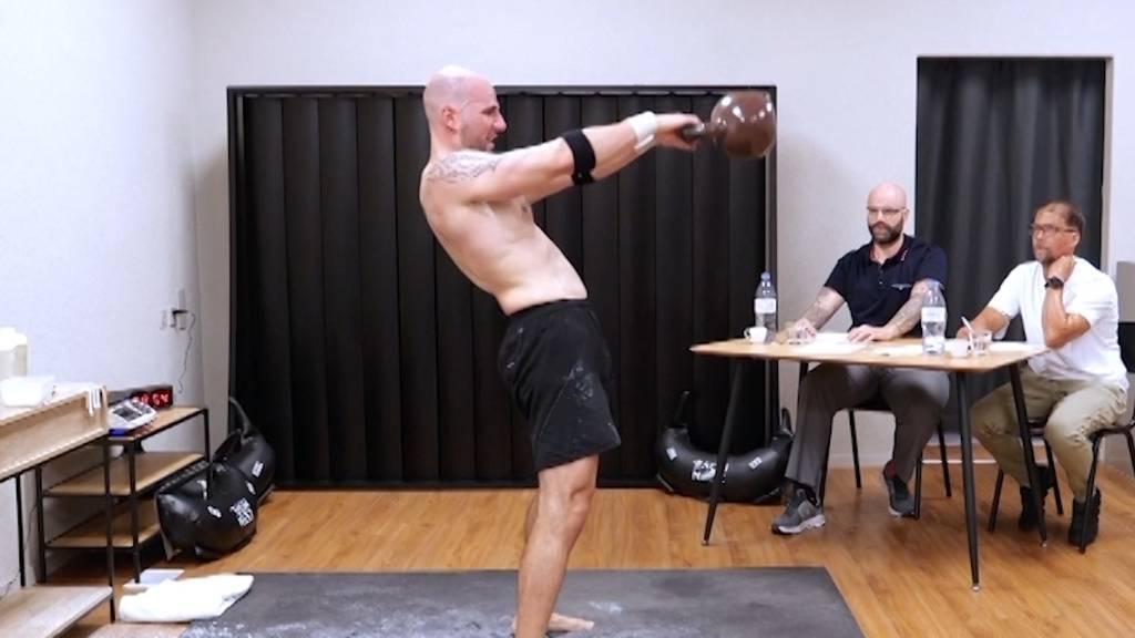 Weltrekord: Stefan Schwitter sichert sich einen Eintrag im Guinness-Buch