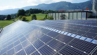 Die Photovoltaik-Module auf dem Dach der Langendorfer Firma machen eine Fläche von 1180 Quadratmetern aus.