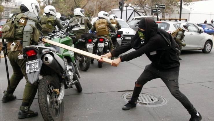 117 Demonstranten wurden bei Studentenprotesten in Santiago De Chile festgenommen.