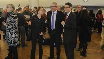 Sie wurden bereits im ersten Wahlgang gewählt: Eva Herzog, Christoph Brutschin (beide SP) und Lukas Engelberger (CVP).