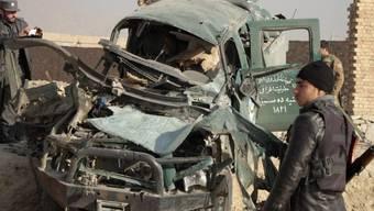Nach einem Selbstmordanschlag in der afghanischen Hauptstadt Kabul
