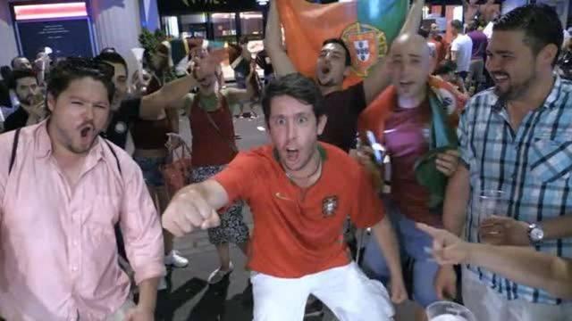 So feiern Portugiesen in Basel den Europameistertitel
