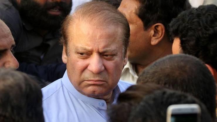 Der frühere Premier Pakistans, Nawaz Sharif, war im Juli wegen Korruption zu zehn Jahren Haft verurteilt worden. (Archivbild)
