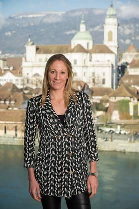 Triathletin Daniela Ryf in ihrer Heimatstadt Solothurn.