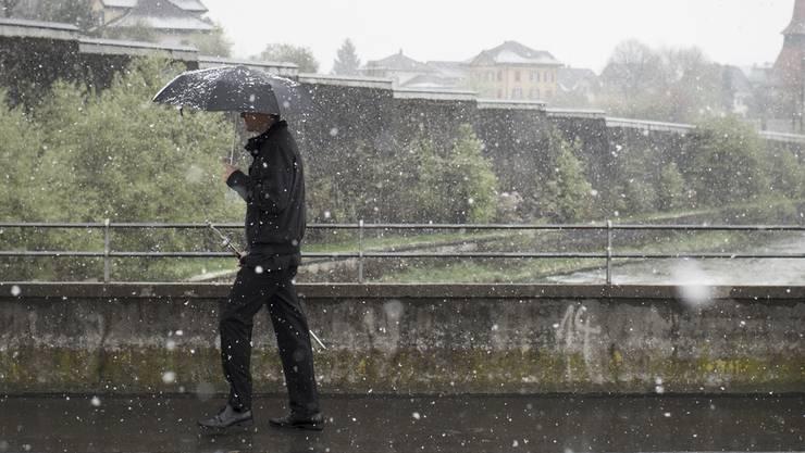Wintereinbruch in der Schweiz.