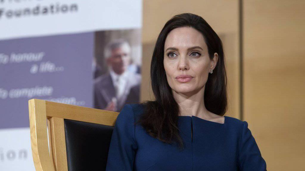 UNHCR-Botschafterin und Schauspielerin Angelina Jolie am Mittwoch in Genf.
