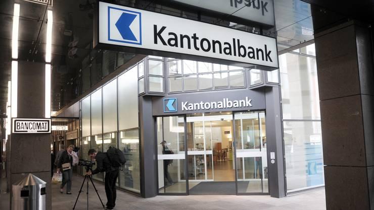 Badener Filiale der Aargauische Kantonalbank: Die Finanzkrise führte offenbar in der Kantonsregierung zu einer Kurskorrektur in Privatisierungsfrage.