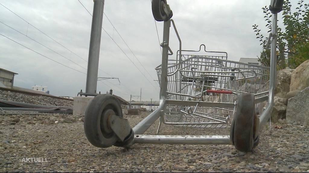 Boswil: Zug rammt Einkaufswägeli