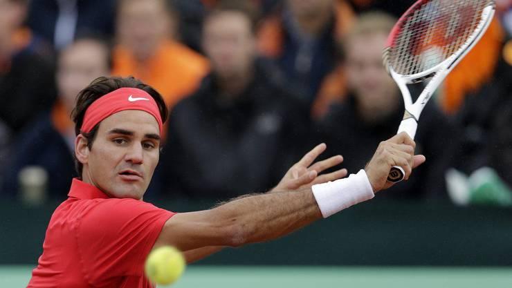Roger Federer spielte zuerst und brachte die Schweiz in Führung