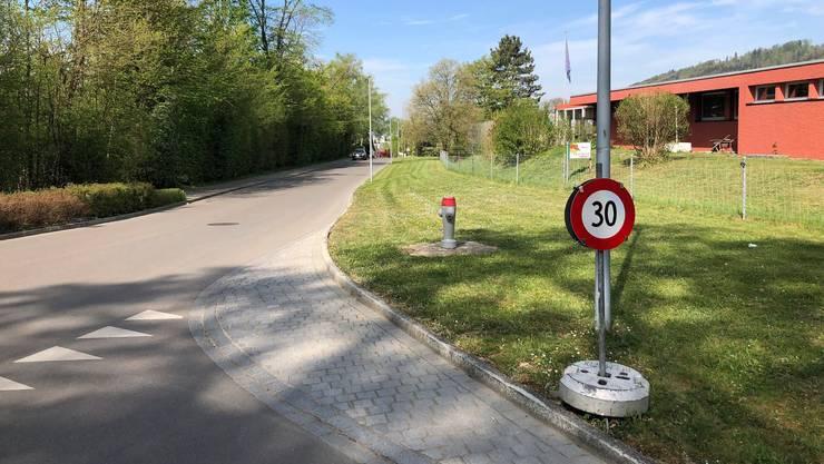 Dieses Jahr standen zwischenzeitlich bereits befristete Tempo-30-Tafeln an der Eggstrasse.