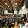 Dar Andrang an der Gemeindeversammlung in Büren war – unerwarteterweise – riesig.