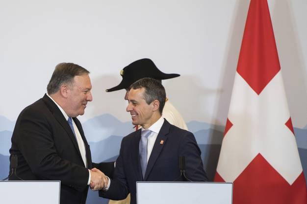 Im Zentrum standen die Guten Dienste, welche die Schweiz für die USA im Iran erbringt.