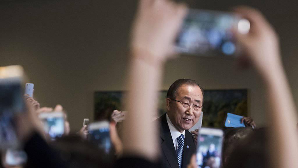Der ehemalige UNO-Generalsekretär Ban Ki Moon wird in seiner Heimat Südkorea als Präsidentschaftskandidat gehandelt. (Archiv)