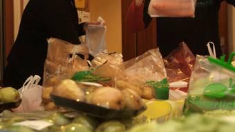 Lebensmittel in der «Tischlein deck dich»-Abgabestelle.