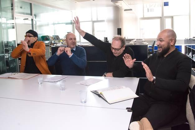 Vier Männer, eine Show: Skelt!, Andrea Bettini, Hugo Buser und Patrick Gusset vom Ensemble.