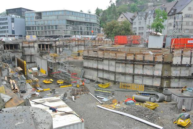 Baustelle Schulhausplatz Baden