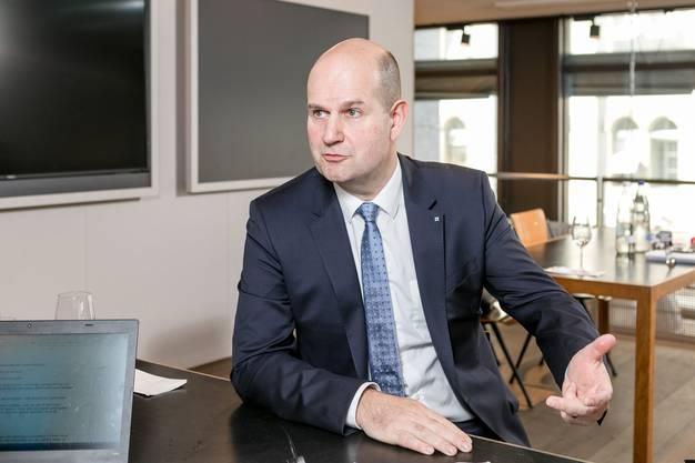 AKB-Direktionspräsident Dieter Widmer ist überzeugt, dass trotz Digitalisierung und Corona noch immer ein grosses Bedürfnis nach physischem Kontakt da ist.