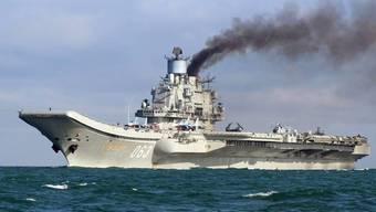 """Der russische Flugzeugträger """"Admiral Kusnezow"""" ist auf dem Weg zurück nach Russland. (Archiv)"""