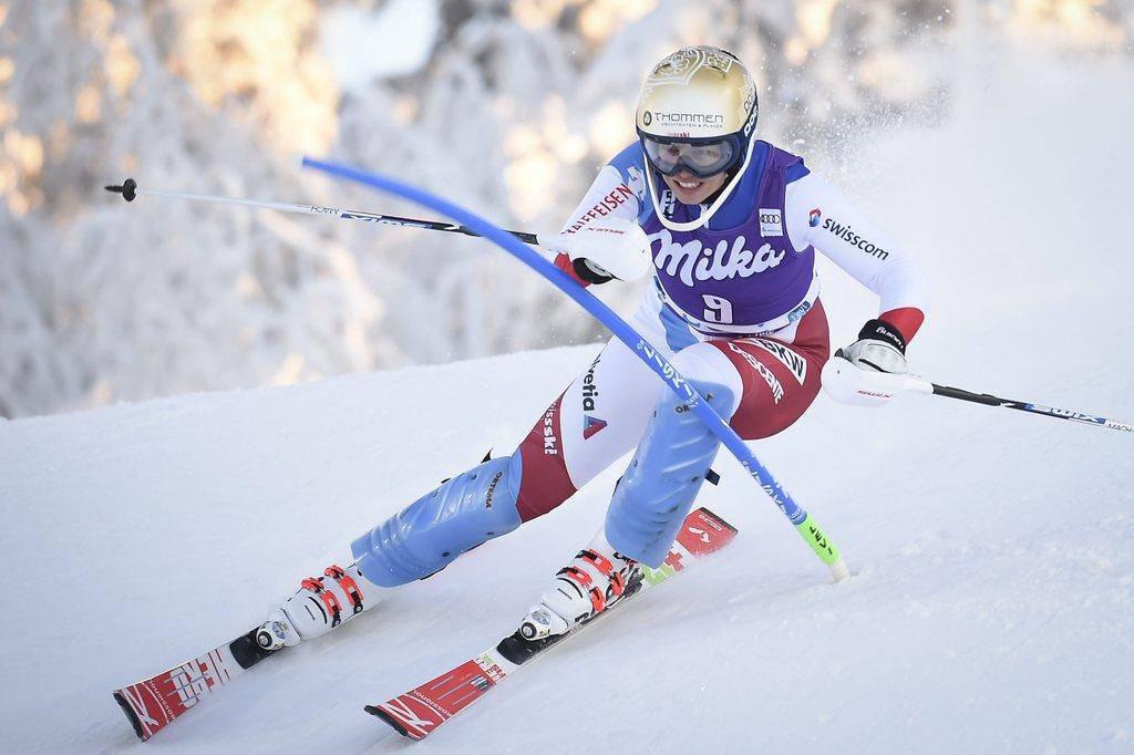Michelle Gisin fuhr auf den neunten Platz (© Keystone)