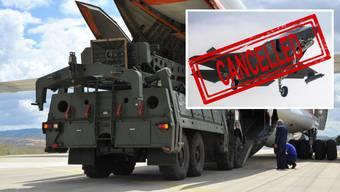 Wegen der Stationierung russischer Luftabwehrraketen: die USA schliessen die Türkei aus dem Entwicklungs- und Produktionsprogramm des US-Kampfjets F-35 aus. (Bilder: Keystone)