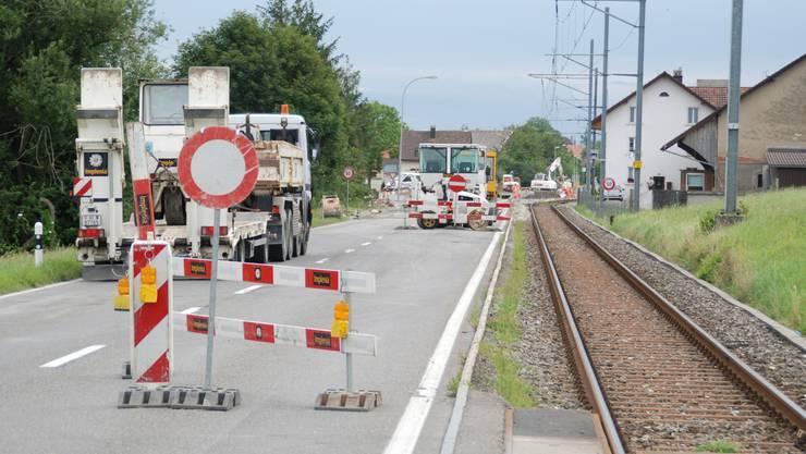 Die Seetalstrasse zwischen Boniswil und Seon.