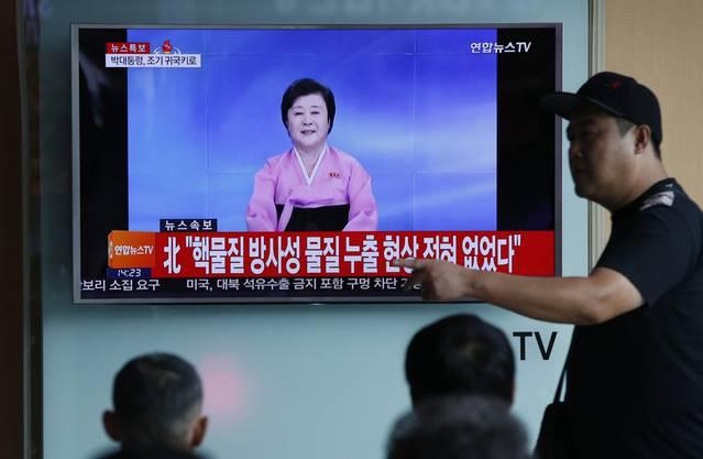 """Es habe sich um einen """"erfolgreichen"""" Atomwaffentest gehandelt, berichtet das staatliche Fernsehen von Nordkorea."""