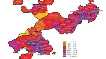 Bevölkerung pro km2 produktive Fläche im Kanton Solothurn