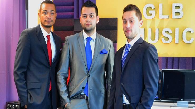 Daniel Birri, Koray Sanchez und Sacci Khan (von links) haben mit ihrem Album «Schwiizer Traum» grossen Erfolg. NAM