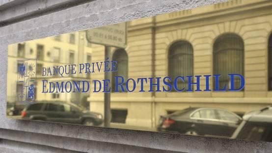 Das Logo der Bank Edmond de Rothschild in Genf (Archiv)