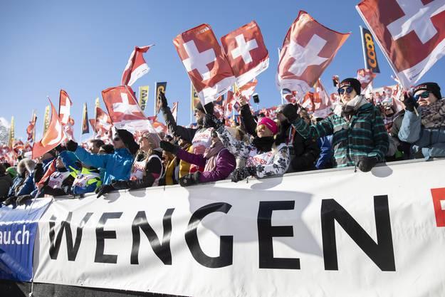 Ein Bild der letzten Austragung: Am 18. Januar 2020 fand in Wengen die Weltcup-Abfahrt statt. Sieger war Beat Feuz.